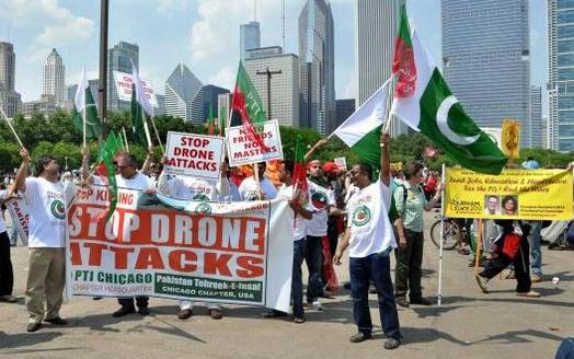 Protest against drone strikes in Chicago