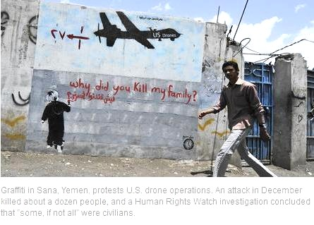 yemen drone graffiti