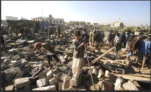 yemen strike near sanaaa airport