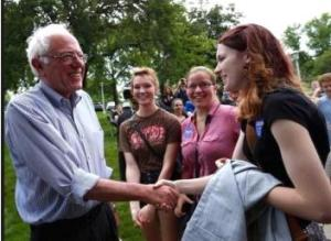 bernie sanders with young